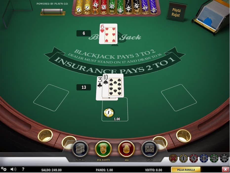 blackjack strategia